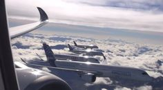 5 Massive Airbus Jets Flew In An Unusually Tight Formation Fly Go, Jet Fly, Airplane Window, Disney Planes, Cargo Aircraft, Civil Aviation, To Infinity And Beyond, Fighter Jets, Digital Marketing