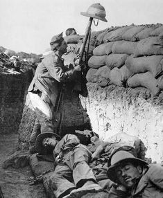 """oldschooltulle: """"An ANZAC soldier trying to spot Turkish snipers during Gallipoli Campaign, """" Wilhelm Ii, Kaiser Wilhelm, History Online, World History, World War One, First World, Anzac Soldiers, Gallipoli Campaign, Anzac Day"""