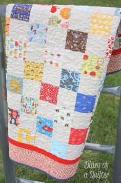 I-spy Baby Quilt - Diary of a Quilter - a quilt blog