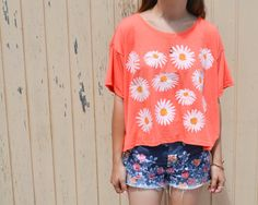 ARGH! WANT! Daisy Tee by leahgoren on Etsy, $34.00