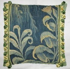 18th Century Verdure Tapestry Pillow - Cushion - Aubusson