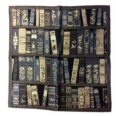Vintage Hermes Paris Bibliotheque Pocket Square