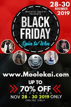 Spin to Win up to 70% off 💎 Nov 28 - 30th / Black Friday Deal ⏱ Plus FREE Shipping Over $50 ✈  ⭐️ | 100% Quality Guarantee 📦 | FREE Shipping Over $50 🔑 | SSL Encrypted Checkout 🛍 | What We Think Fashion Looks Like  Shop Now 👉👉 www.moolokai.com   #Moolokai #Apparel #Men #Women #Clothes #Fashion #model #fashionista #dress #style #outfit #shopping #glam #beautiful #fashionblogger #jacket #girl #look #cool #love #girly #streetwear #art #pink #fashionweek #gentleman #cute #purse Website Promotion, Only Online, Black Friday Deals, High Energy, Self Esteem, Spin, 30th, Gentleman, Streetwear