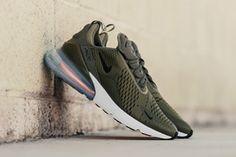 separation shoes b3706 1c334 Nike Air Max 270 Medium Olive On-Foot Look Release Black Total Orange Best  Sneakers