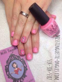 #roses peintes à la main sur #recouvrement #sns sur #ongles naturels #opi #opineworleans