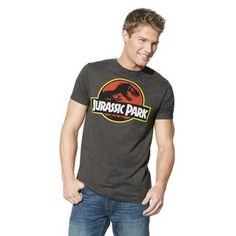 Men's Jurassic Park T-Shirt Gray
