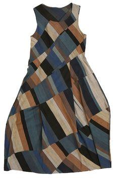 diagonal patchwork dress