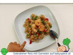 Gebratener Reis mit Garnelen - Baby led weaning Rezept für Babys, perfekt für den Familientisch