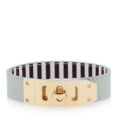 Whitney Turnlock Leather Cuff Bracelet | Under $100 | Henri Bendel