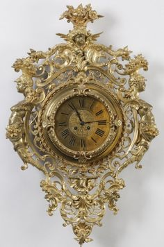 Early 20th c. gilt bronze wall clock : Lot 753