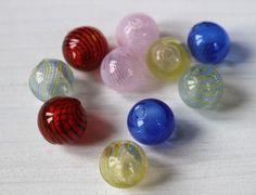 hand blown hollow glass beads mixed bag by allthatglittersbeads