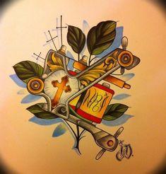 Tattoo Design Drawings, Tattoo Sketches, Tattoo Designs, Gangsta Tattoos, Badass Tattoos, Tattoo Studio, Tattoo Memes, Tatuajes Tattoos, Metal Tattoo