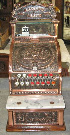 Antique Copper Finish National Cash Register Model 312, Serial #1381122 Restored