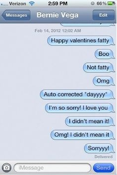 Turn off your autocorrect when professing your love! Cupid's favorite day reveals autocorrect turns love stories into http://randomlyfunnystufff.com/hilarious-valentine-s-day-autocorrects