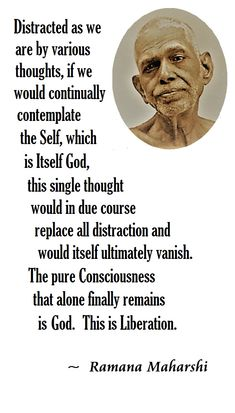 Quote from Ramana, from 'Self-Enquiry', the first work the Maharshi ever wrote. Awakening Quotes, Spiritual Awakening, Wisdom Quotes, Life Quotes, Great Quotes, Inspirational Quotes, Excellence Quotes, Ramana Maharshi, Self Realization