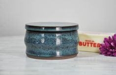 Butter Keeper, Pottery Butter Keeper, Pottery, Wheel Thrown Pottery, Butter Crock, Pottery Butter Crock, Butter Dish, Pottery Butter Keeper by ShawnaPiercePottery on Etsy