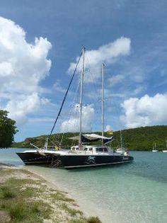 Catamaran: slide your cat up on the Grand Anse Beach, Spice Island...