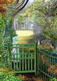 The Secret Garden (Inga Moore)......fence color!!!