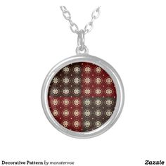 Decorative Pattern Silver Plated Necklace #Decorative #Design #Pattern #Zazzle #Fashion #Necklace
