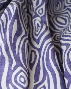 A totally fun faux bois (fake or false wood) fabric with a grapey purple in a hand painted look contrasted by white (Willow, Thistle, Tonic Living) Chromotherapy, Purple Fabric, Fabulous Fabrics, Nursery Ideas, Apartment Ideas, Wood Grain, Etsy Store, Playroom, Printing On Fabric