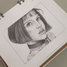 -Mathilda from Leon: The professional. (Natalie Portman) See it Leon The Professional Mathilda, The Professional Movie, Natalie Portman, Easy Drawings, Pencil Drawings, Leon Matilda, Black Couples Goals, Step By Step Drawing, Art Sketchbook