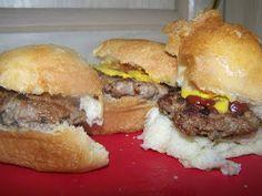 Gourmet sliders- tribute to Hell's Kitchen.  Avocado slider, California slider, and Garlic & mushroom slider.