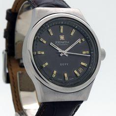 1970's Vintage Zenith Defy Ref. 28800 Stainless Steel Watch