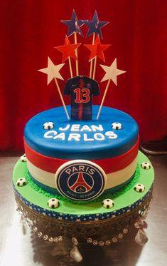 Paris Saint, Saint Germain, Psg, Fondant, Birthday Cake, Football, Desserts, Food, The Creation