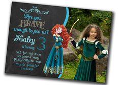 Brave Invitation Pixar's Brave Birthday by PrintablesToYou on Etsy