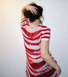 so cool, want to do this with stripes, @ etsy, tamedravendesigns