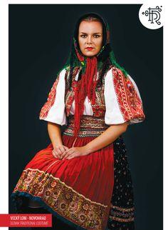 Veľký Lom, Novohrad, Slovakia Folk Costume, Costumes, Contemporary Decorative Art, Folk Embroidery, Ancient Art, Traditional Dresses, Ukraine, Korea, Sari