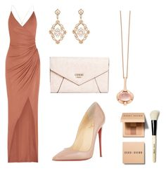 soiree de gala by emma-robion on Polyvore featuring polyvore fashion style Balmain Christian Louboutin GUESS Boodles Sara Weinstock Bobbi Brown Cosmetics clothing