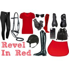 """""""Revel In Red"""" Riding Outfit Collection"""