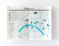 The Indigo Bunting: Paris Wedding: Welcome Bag & Letter Map Design, Layout Design, Print Design, Graphic Design, Visual Map, Pamphlet Design, Map Layout, Map Projects, Paris Map