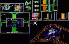 Engineering et Architecture: Plan dwg d'un hotel Architecture Portfolio, Art And Architecture, Architecture Diagrams, Bloc Autocad, Plan Restaurant, Urban Analysis, Parametric Design, Site Plans, Belle Villa