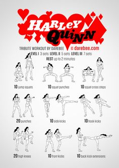 Harley Quinn Workout --Be your own Whyld Girl with a wicked tee today! http://whyldgirl.com/tshirts