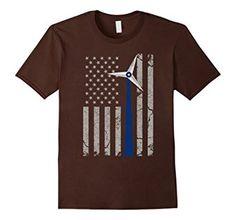 Amazon.com: Vintage American Flag Engineer T-shirt Blue Wind Turbine $19.99