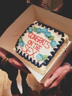 """these all made me laugh, I think that I would give this cake to the next virgins getting married, and put """"Congrats on getting sex soon"""""""