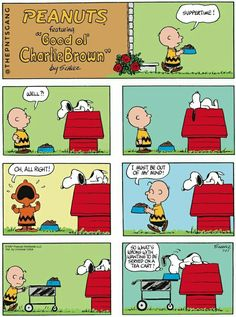 #thepntsgang #pnts #peanuts #schulz #snoopy #charliebrown #suppertime #teacart