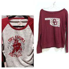 OU long sleeved shirts $42