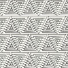 Modern Fabric Minimalista Prisma in Noir Art by GrayRayneFabrics