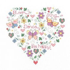 Cross Stitch Craze: Butterfly and Hearts