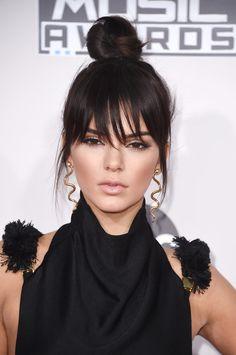 Kendall Jenner Got Brand-New Bangs For the AMAs: Kendall Jenner showed off a new look on the American Music Awards red carpet.