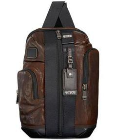 TUMI MEN'S LEATHER SARATOGA SLING. #tumi #bags #leather #backpacks #