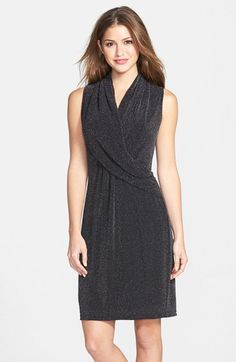 Marc New York by Andrew Marc Metallic Knit Fit & Flare Dress available at #Nordstrom