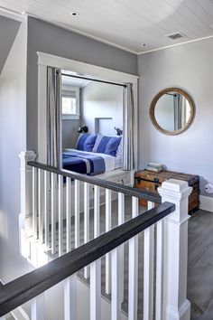 Attic Bedroom - Ranch Cottage with Transitional Coastal Interior, Amagansett, Hamptons-NY | Built by John Hummel and Associates.