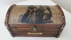 CUSTOM PHOTO ENGRAVED PLAQUE Jewelry Storage chest by PeacefullyPerfect on Etsy