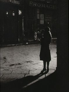 """Brassai (Gyula Halasz) Prostitute at angle of Rue de la Reynie and Rue Quincampoix From """"Paris by Night"""" 1933 Masters of Photography: Brassai Old Photography, Street Photography, Photography Exhibition, Photography Business, Brassai, Alberto Giacometti, Reportage Photo, French Photographers, Wayfarer"""