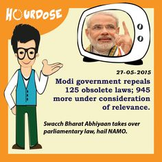 Modi government repeals 125 obsolete laws; 945 more under consideration of relevance.