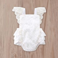 99f9c03415909 Check out my new Dreamy Lace Sleeveless Bodysuit in White for Baby Girl